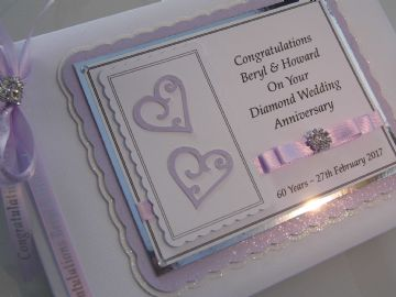 Personalised Diamond Wedding Anniversary Guest Book